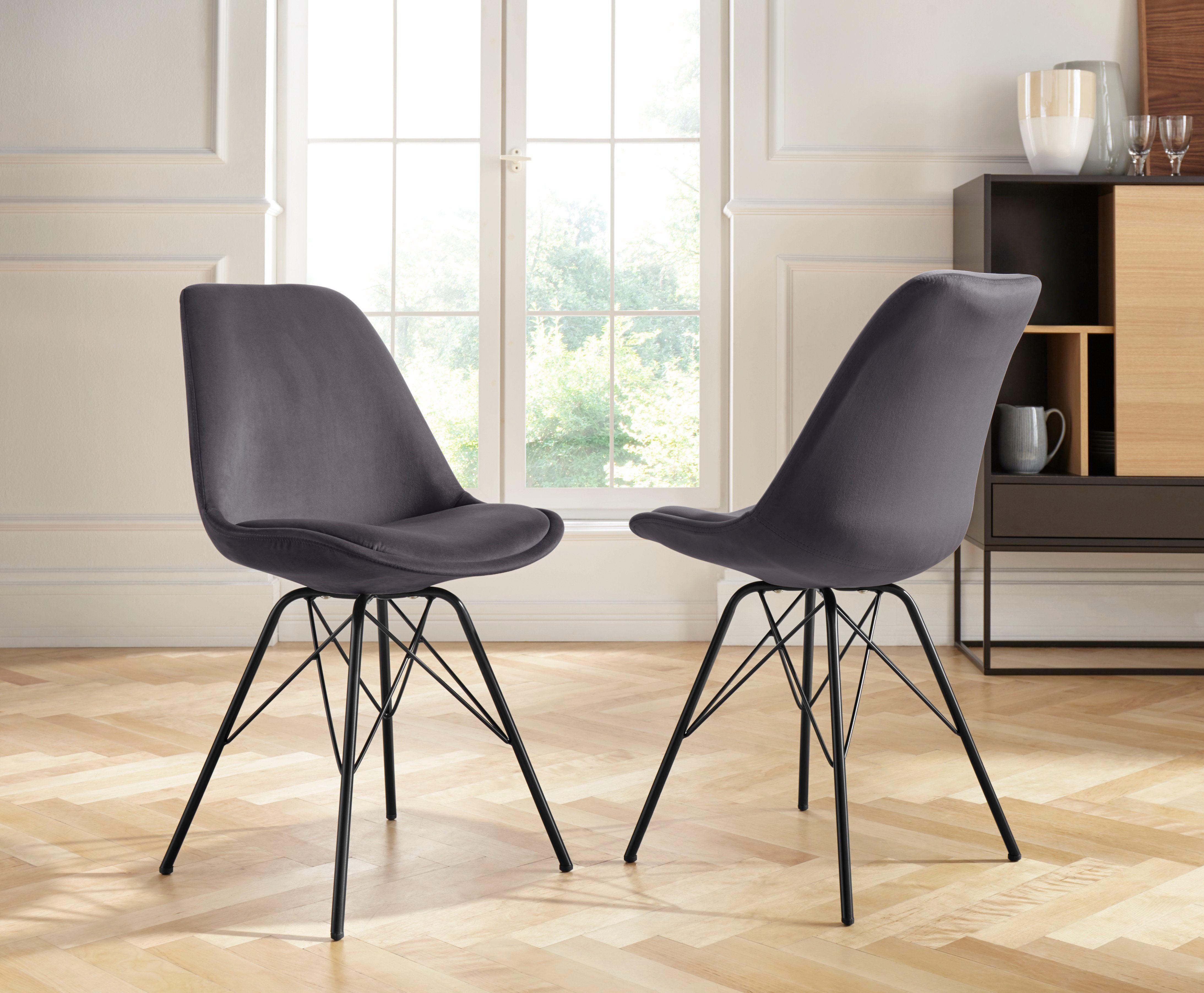Homexperts Schalenstuhl »Ursel 02« (2 Stück), Sitzschale mit Bezug in Samt online kaufen | OTTO