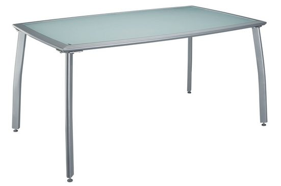 MERXX Gartentisch »Lima«, Aluminium, 150x90 cm, silber