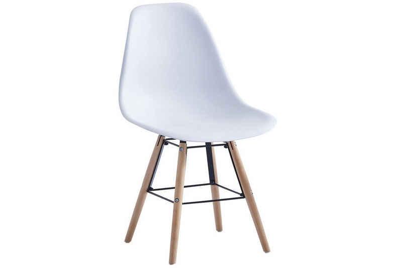 SAM® Schalenstuhl »Jasha«, mit weißer Sitzschale