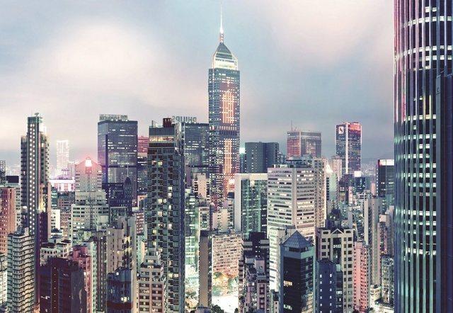 Komar Fototapete Skyline 368 x 254 cm / 8-tlg.