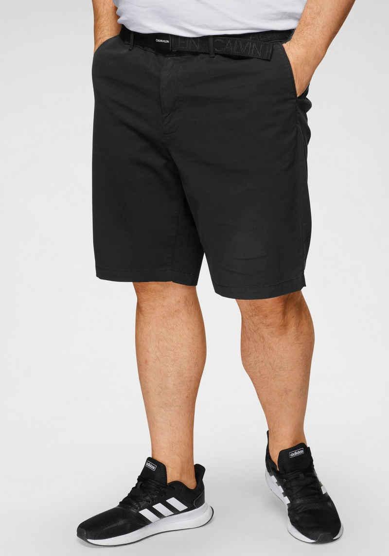 Calvin Klein Big&Tall Shorts »GARMENT DYE BELTED SHORTS« (mit abnehmbarem Gürtel)