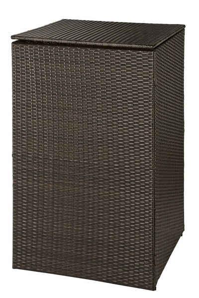 HANSE GARTENLAND Mülltonnenbox, für 1x120 l aus Polyrattan, BxTxH: 64x66x109 cm