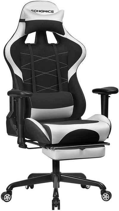 SONGMICS Gaming-Stuhl »RCG52BK RCG52BW RCG52GYV1«, Gaming Stuhl, Bürostuhl, Schreibtischstuhl, schwarz-weiß