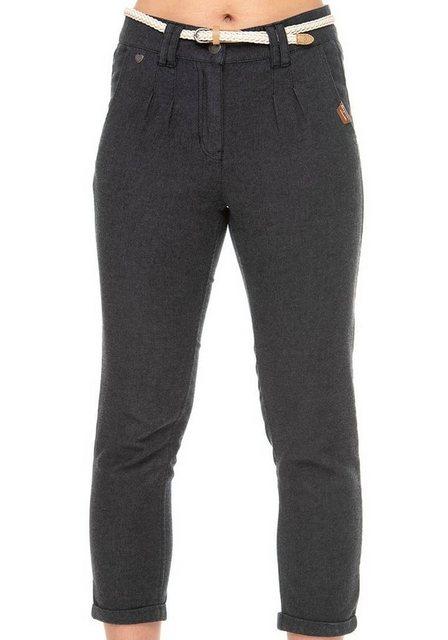 Hosen - Ragwear 7 8 Hose »WOLFKY« (2 tlg., mit abnehmbarem Gürtel) in Denim Optik › schwarz  - Onlineshop OTTO