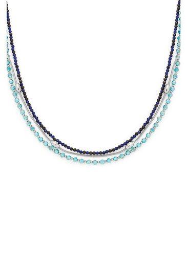 LEONARDO Edelstahlkette »Lidera, 021324«, mit Kristallglas