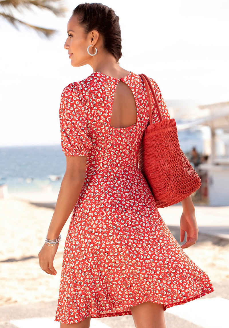 Vivance Jerseykleid mit Blümchenprint