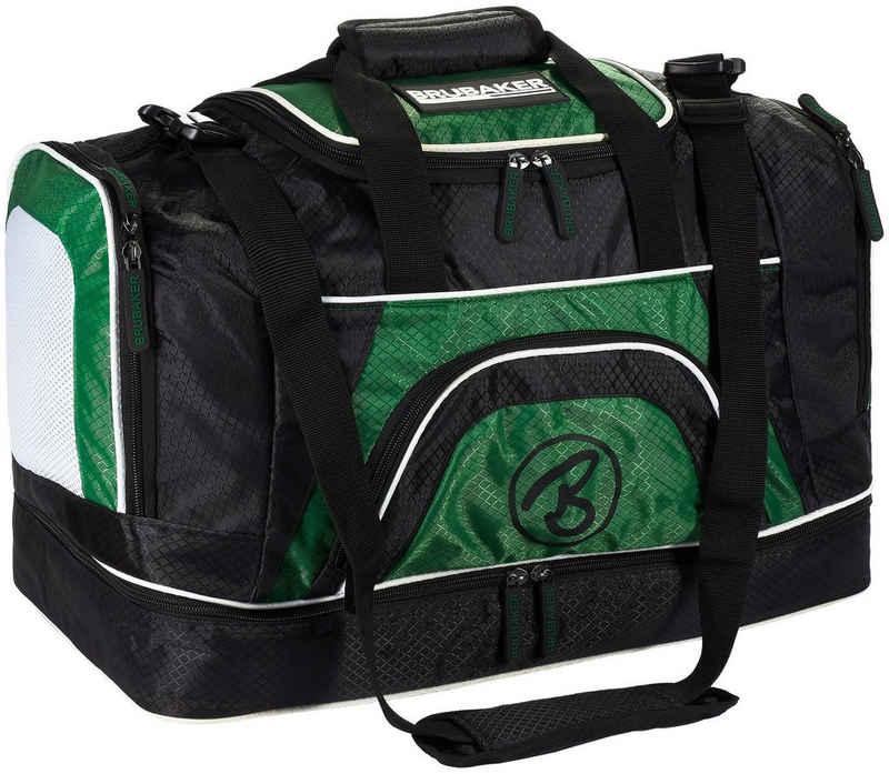 BRUBAKER Sporttasche »XXL Trainingstasche 90 l oder 52 l« (1-tlg., Schuhfach und Nassfach), Fitnesstasche mit abnehmbarem Schultergurt