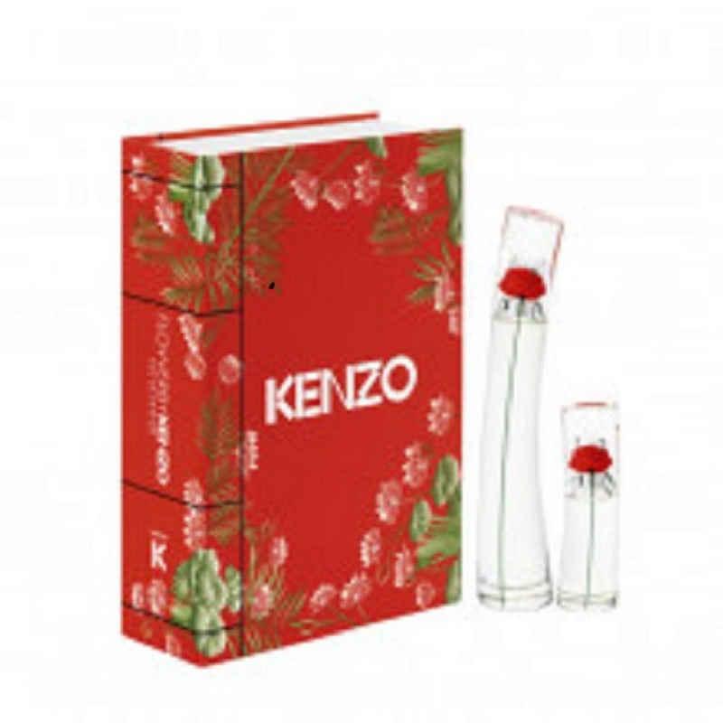 KENZO Eau de Parfum »Kenzo Set FLOWER BY KENZO EdP 3 tlg. 100 ml EDP + 15 ml EDP + 75 ml Bodylotion«