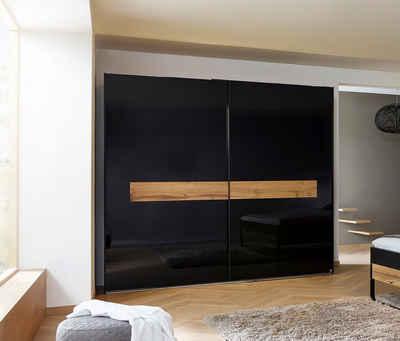rauch BLACK Schwebetürenschrank »Mayla« mit Glasfront, optional mit Beleuchtung
