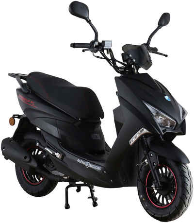 Alpha Motors Motorroller »Speedstar«, 50 ccm, 45 km/h, Euro 5, mattschwarz