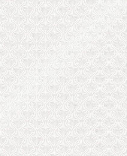 SUPERFRESCO EASY Vliestapete »Ecailles Gatsby«, Weiß, 52cm x 10m