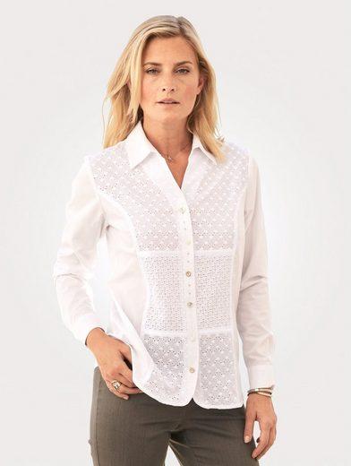 Mona Klassische Bluse mit Einsätzen aus Lochspitze