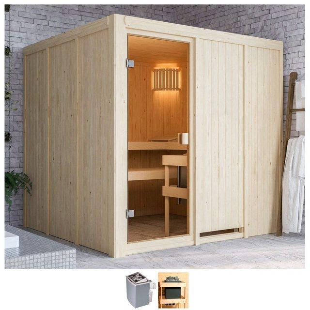 Saunen und Zubehör - Karibu Sauna »Omari«, BxTxH 196 x 196 x 198 cm, 68 mm, 9 kW Ofen mit int. Steuerung  - Onlineshop OTTO