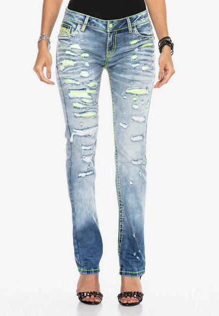 Hosen - Cipo Baxx Bequeme Jeans mit Neon Effekten ›  - Onlineshop OTTO