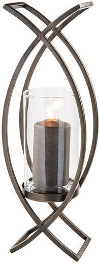 Fink Windlicht »MADDOX« (1 Stück), aus Edelstahl und Glas, Höhe ca. 54 cm