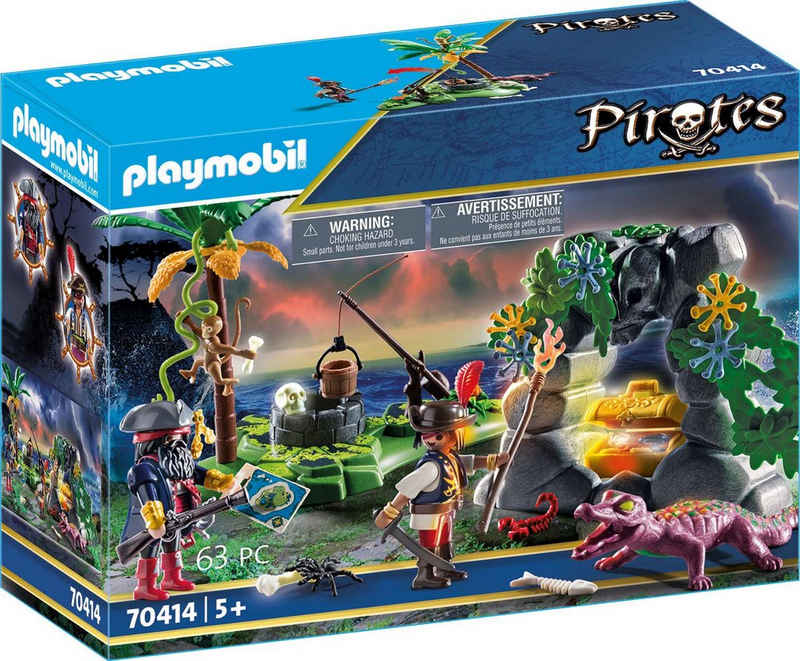 Playmobil® Konstruktions-Spielset »Piraten-Schatzversteck (70414), Pirates«, (63 St), Made in Germany