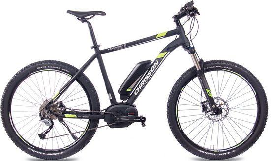 Chrisson E-Bike »E-Mounter 1.0«, 9 Gang Shimano Acera RD-M3000 Schaltwerk, Kettenschaltung, Mittelmotor 250 W
