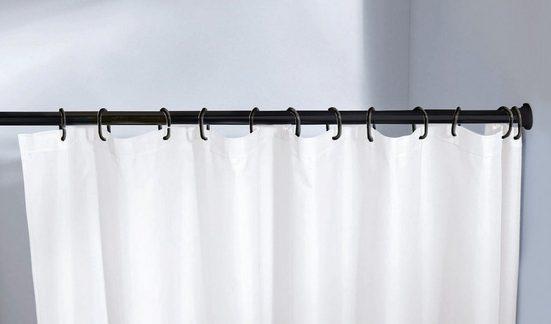 Duschvorhangstange »Federstange«, Kleine Wolke, Ø 21 mm, ausziehbar, kürzbar, schwarz, für Duschvorhänge, hochwertige Verarbeitung, Länge 75-125 cm