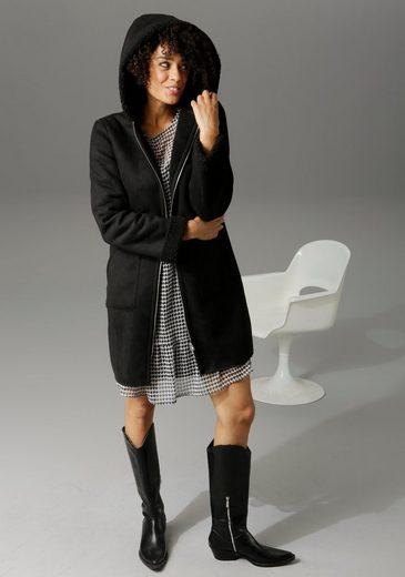 Aniston CASUAL Kurzmantel mit Kapuze