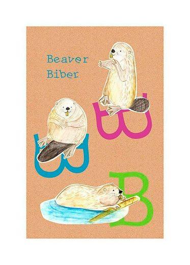 Komar Poster »ABC Animal B«, Buchstaben, Höhe: 50cm