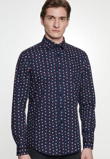 Schlussverkauf seidensticker Businesshemd »Shaped« Shaped Langarm Covered-Button-Down-Kragen Floral