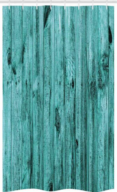 Abakuhaus Duschvorhang »Badezimmer Deko Set aus Stoff mit Haken« Breite 120 cm, Höhe 180 cm, Blau Antik Holz Textur