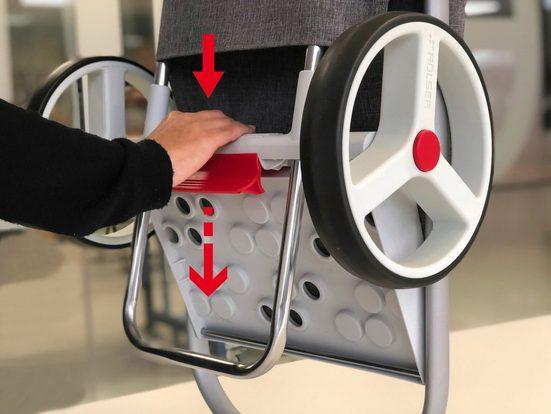 Rolser Einkaufstrolley »8 Com Tweed«, 53 l, mit 2 Rädern, zuzammenplappbar, Tasche abnehmbar