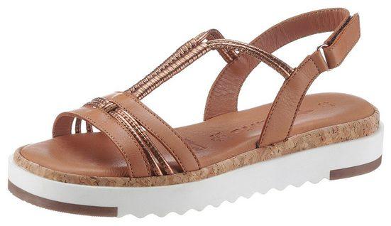 Tamaris »BENNA« Sandale mit schönen Metallic-Riemchen