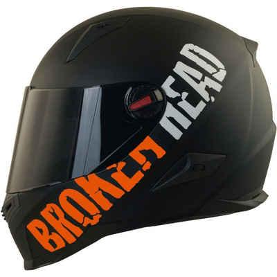 Broken Head Motorradhelm »BeProud Orange« (mit schwarzem und klarem Visier), inklusive 2 Visieren