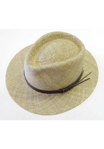 Chaplino šiaudinė skrybėlė su gražus Lederband