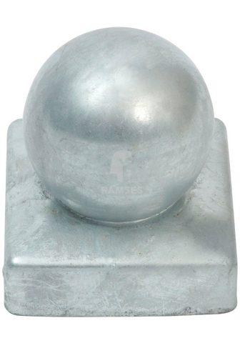 RAMSES Pfostenkappe su Kugel 70x70 mm Stahl f...