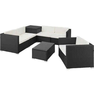 tectake Loungeset »Rattan Lounge Pisa«, (7-tlg)