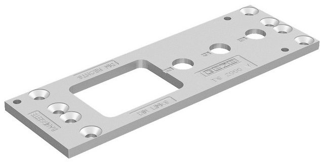GEZE Türschließer »GEZE - Montageplatte«, Passend zu GEZE Türschließer TS 2000V