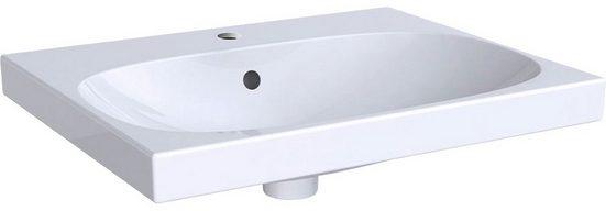 GEBERIT Waschbecken »Smyle«, mit Hahnloch, mit Überlauf, weiß, KeraTect