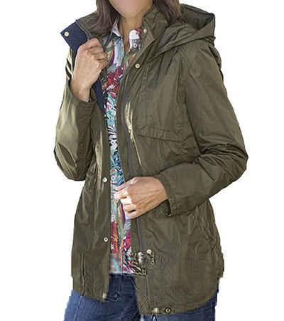 Betty Barclay Kurzmantel »BETTY BARCLAY Kurz-Mantel leichte Damen Outdoor-Jacke mit Taillenband Frühlings-Jacke Khaki-Grün«