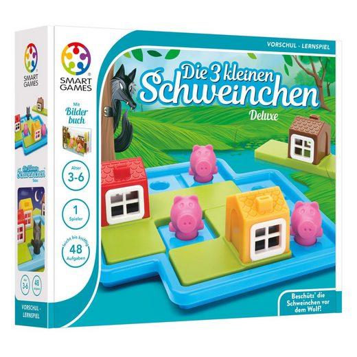 Smart Games Spielesammlung, Märchenspiel »Die 3 kleinen Schweinchen«, mit Märchen-Bilderbuch