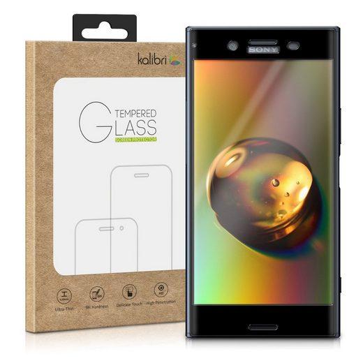 kalibri Schutzfolie, Folie für Sony Xperia XZ Premium - 3D Glas Handy Schutzfolie - Auch für gewölbtes Display