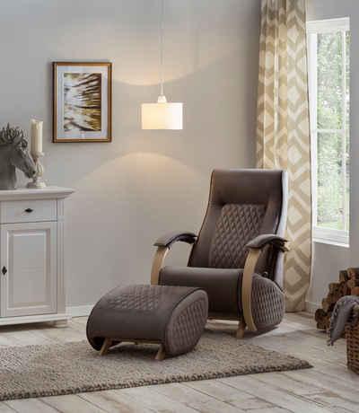Home affaire Relaxsessel »Hilmar«, mit Schaukelfunktion und Schaukelhocker