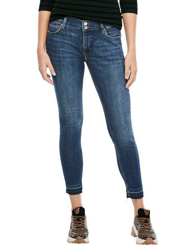 Q/S designed by Skinny-fit-Jeans su ausgefranstem Ankl...