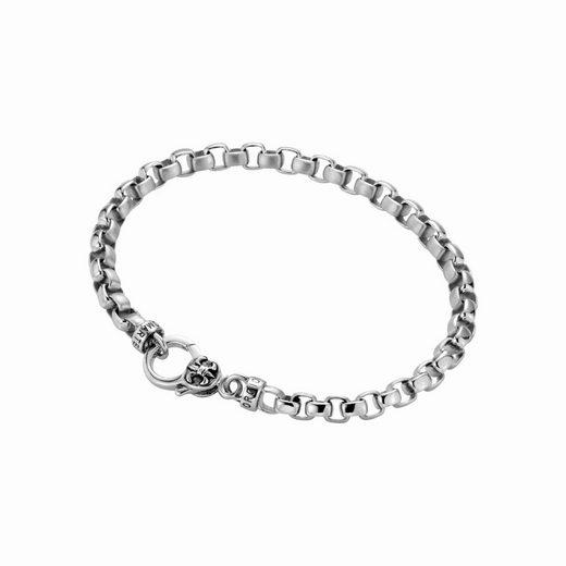 GIORGIO MARTELLO MILANO Armband »eckige Glieder, gebürstet / glanz, Silber 925«