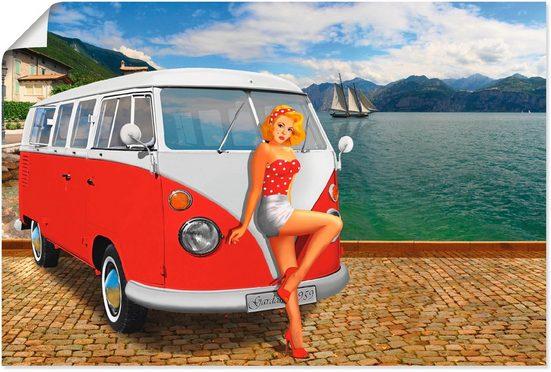 Artland Wandbild »Urlaub am Gardasee 1959«, Frau (1 Stück)