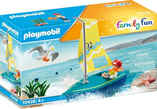 Playmobil® Konstruktions-Spielset »Segeljolle (70438), Family Fun«, ; Made in Germany