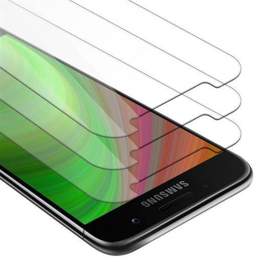 Cadorabo Handyhülle »3x Panzer Folie Tempered für« Samsung Galaxy A5 2017, Schutzfolie in 9H Härte mit 3D Touch Kompatibilität