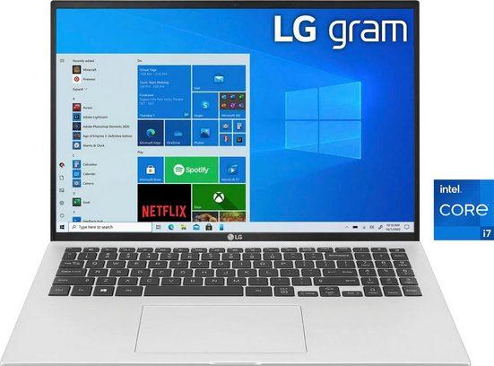LG 16Z90P-G.AA79G Notebook (40,6 cm/16 Zoll, Intel Core i7 1165G7, Iris Xe Plus Graphics, 1000 GB SSD, Kostenloses Upgrade auf Windows 11, sobald verfügbar)