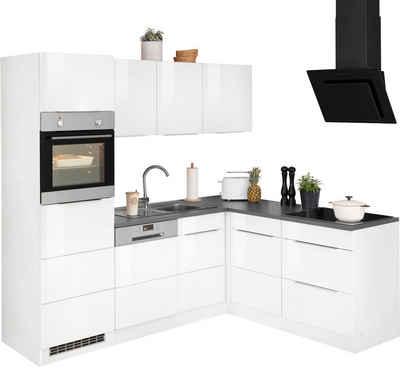 HELD MÖBEL Winkelküche »Brindisi«, mit E-Geräten, Stellbreite 230/170 cm