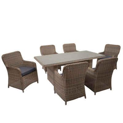 MCW Sitzgruppe »MCW-E98-6S«, Garten, Wasserabweisende Bezüge, Polsterbezüge mit Reißverschluss