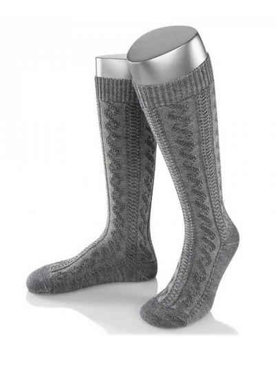 Almbock Trachtensocken »Trachten Socken lang Merino Schurwolle« (1-Paar) grau