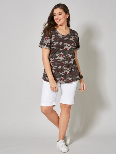 Angel of Style by Happy Size Jeans-Shorts mit Umschlag