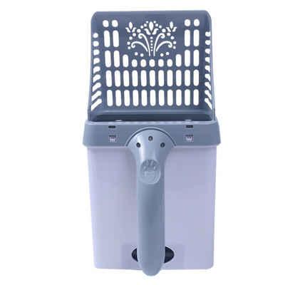 Sross Katzentoilette »Katzenstreu Schaufel mit 30x Müllsack, Reinigungswerkzeug für Katzenstreu, Katzenstreuschaufel mit Behälter, Plastik tragbar 2 in 1 Katzenstreuschaufel & Abfallbehälter für Reinigen Von Katzenstreu«