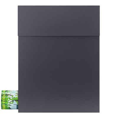 MOCAVI Briefkasten »MOCAVI Box 500 Design-Briefkasten mit Zeitungsfach anthrazit (RAL 7016)«